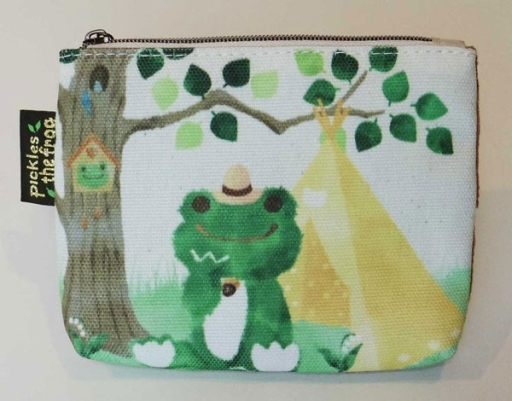 【予約】バッグ(キャラクター) 森のピクルスシリーズ ポケットティッシュポーチ 「pickles the frog-かえるのピクルス-」