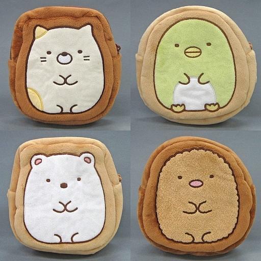 【中古】バッグ(キャラクター) 全4種セット クッキー風ポーチ 「すみっコぐらし」