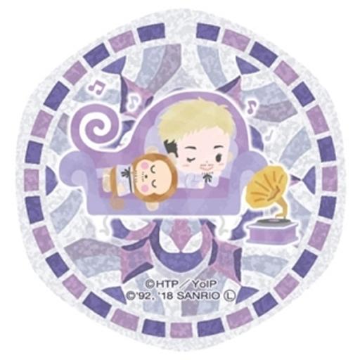クリストフ・ジャコメッティ×おさるのもんきち ステンドグラスアートキーホルダー 「ユーリ!!! on ICE×サンリオキャラクターズ」