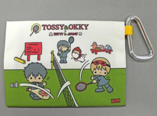 TOSSY&OKKY(土方&沖田) カラビナ付ティッシュケース 「銀魂×サンリオキャラクターズ」