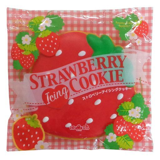 BLOOM(ブルーム) 新品 スクイーズ(食品系/雑貨・小物) ストロベリーアイシングクッキー レッド スクイーズマスコット