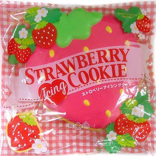 BLOOM(ブルーム) 新品 スクイーズ(食品系/雑貨・小物) ストロベリーアイシングクッキー ピンク スクイーズマスコット