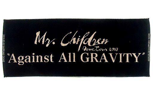 """Mr.Children メモリアルカラーフェイスタオル(ブラック×ベージュ) 「Mr.Children Dome Tour 2019 """"Against All GRAVITY""""」 札幌会場限定"""