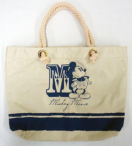 【中古】バッグ(キャラクター) ミッキーマウス(ブルー) プレミアムキャンバストートバッグ 「ディズニー」