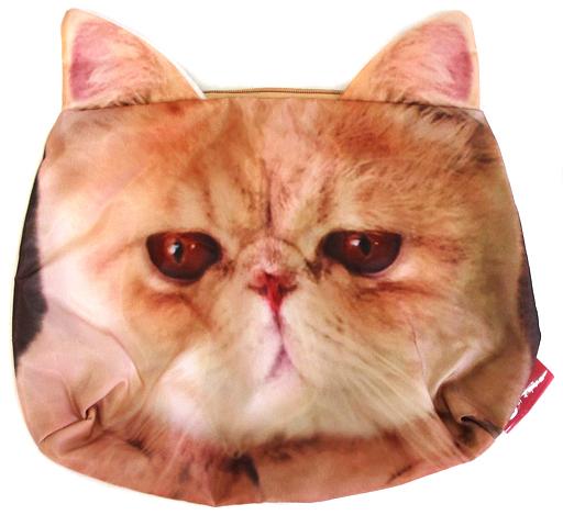 【中古】バッグ(キャラクター) フェイス クラッチポーチ 「猫のマッシュ」