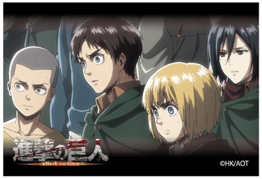 【中古】小物(キャラクター) C.集合(4人) スクエアマグネット 「進撃の巨人 Season 2」