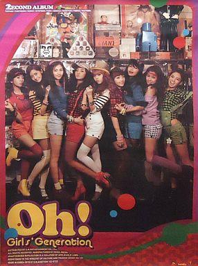 【中古】ポスター(女性) ポスター 少女時代 「CD 2集 Oh!(韓国盤)」 初回購入特典