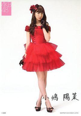 ポスターコレクション 小嶋陽菜(赤ドレス/全身) 「一番くじ AKB48~クリスマスプレゼント~」 購入者特典