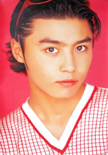 【中古】ポスター(男性) ポスター 堂本剛(KinKi Kids)/赤チェック衣装 1996年