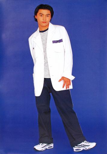【中古】ポスター(男性) ポスター 堂本剛(KinKi Kids)/白衣装 1996年