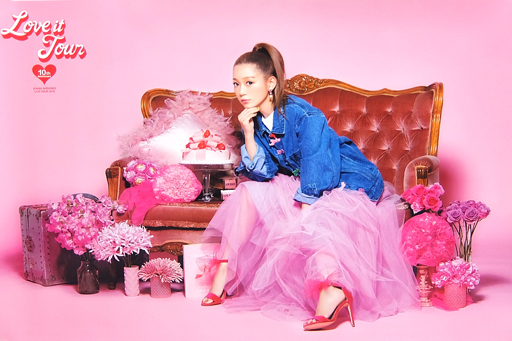 B2オリジナルポスター(ピンク) 西野カナ 「西野カナ 全国アリーナツアー2018『LOVE it Tour ~10th Anniversary~』」