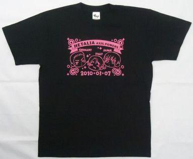 【中古】Tシャツ(キャラクター) ヘタリア イベント限定Tシャツ ブラック 女性用Mサイズ 「ヘタリア Axis Powers まるかいて感謝祭」