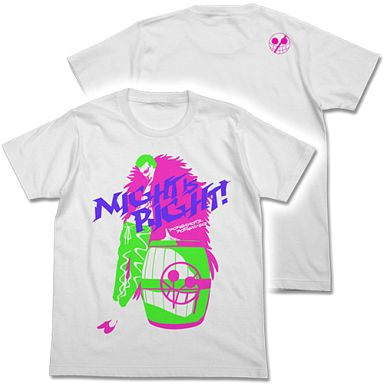 【中古】Tシャツ(キャラクター) ドンキホーテ・ドフラミンゴ Tシャツ ホワイト Lサイズ 「ワンピース」