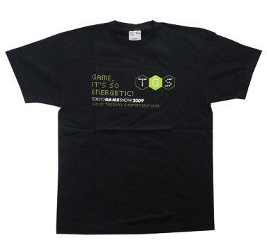 【中古】Tシャツ(キャラクター) 東京ゲームショウ2009 オリジナルTシャツ ブラック Lサイズ 「TGS2009サポーターズクラブチケット 26日販売チケット」 購入特典