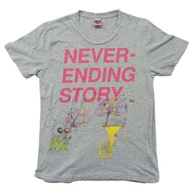 【中古】Tシャツ(男性アイドル) ゆず NEVER-ENDING STORY Tシャツ グレー Sサイズ 「YUZU ARENA TOUR 2009-2010 FURUSATO」 追加公演会場限定