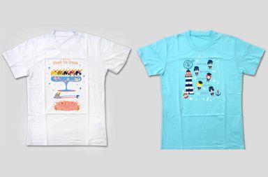 【中古】Tシャツ(キャラクター) 全2種セット キャラクターTシャツ フリーサイズ 「Free!-Eternal Summer-」