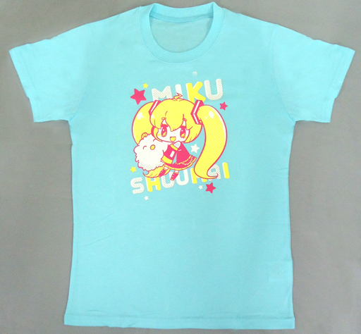 【中古】Tシャツ(キャラクター) 初音ミク&しゅうまい君 キャラクターTシャツ その2 ライトブルー フリーサイズ 「初音ミク×しゅうまい君」