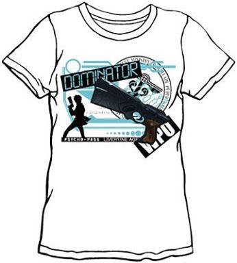 狡噛慎也(DOMINATOR) コラボTシャツ ホワイト XSサイズ 「LIVERTINEAGE×PSYCHO-PASS サイコパス」   中古    Tシャツ(キャラクター)   通販ショップの駿河屋