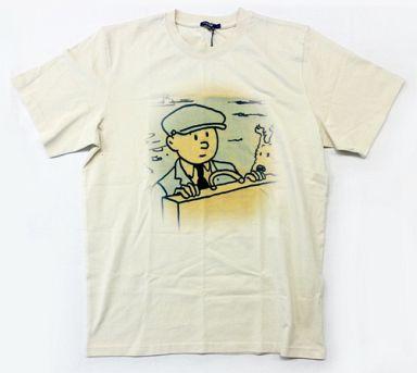 タンタン&スノーウィ ベーシックTシャツ ベージュ Sサイズ 「タンタンの冒険」