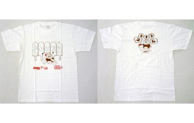 【中古】Tシャツ(キャラクター) ポケモン×ガリガリ君オリジナルTシャツ ホワイト Lサイズ 「ポケットモンスター ブラック2・ホワイト2×ガリガリ君」 当たり棒景品