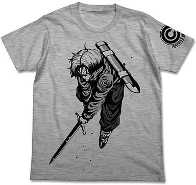 【新品】Tシャツ(キャラクター) トランクス Tシャツ ヘザーグレー Lサイズ 「ドラゴンボール改」