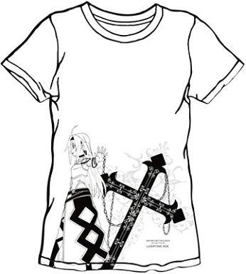 type ROSARIO(ユウキ) コラボTシャツ ホワイト Sサイズ 「LIVERTINEAGE×ソードアート・オンラインII」   中古    Tシャツ(キャラクター)   通販ショップの駿河屋