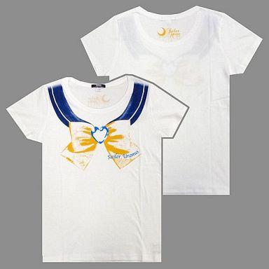 【中古】Tシャツ(キャラクター) セーラーウラヌス柄 なりきりセーラーTシャツ ホワイト レディースMサイズ 「美少女戦士セーラームーン」 バンダイファッションネット限定