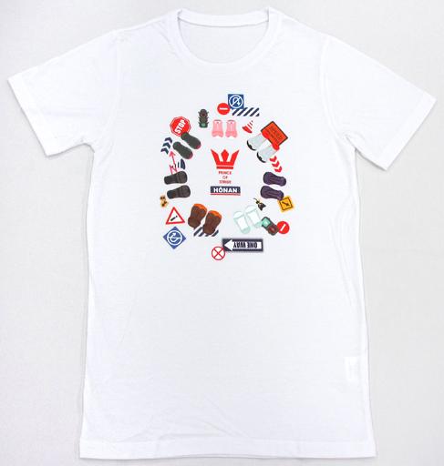 【中古】Tシャツ(キャラクター) Tシャツ ホワイト 女性フリーサイズ 「プリンス・オブ・ストライド オルタナティブ」