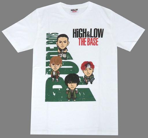 【中古】Tシャツ(男性アイドル) RUDE BOYS キャラクターTシャツ ホワイト フリーサイズ 「HiGH&LOW THE BASE」