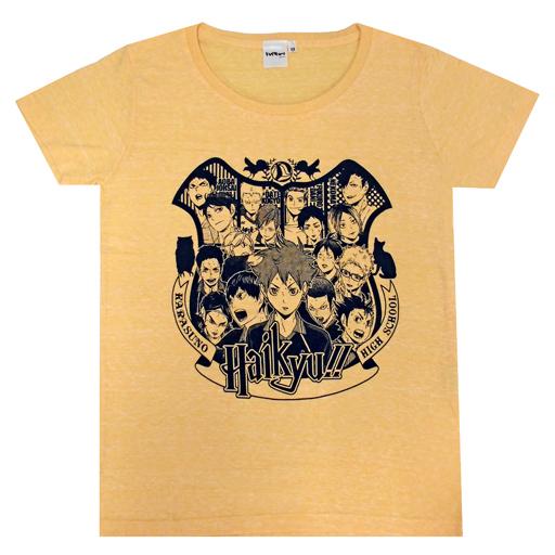 【中古】Tシャツ(キャラクター) 集合 Tシャツ オレンジ XSサイズ 「ハイキュー!!」 ジャンプショップ限定