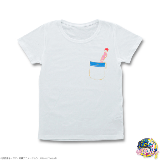 【中古】Tシャツ(キャラクター) セーラームーン 変装ペン&変身ペンTシャツ ホワイト レディースMサイズ 「美少女戦士セーラームーン」