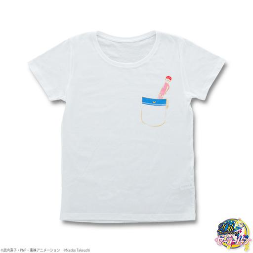【中古】Tシャツ(キャラクター) セーラームーン 変装ペン&変身ペンTシャツ ホワイト メンズMサイズ 「美少女戦士セーラームーン」