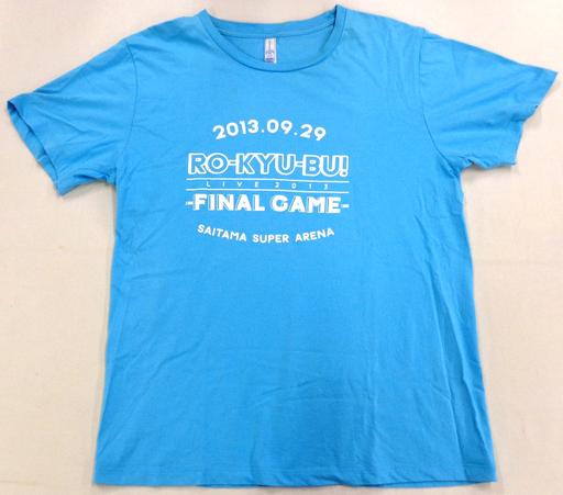 【中古】Tシャツ(女性アイドル) ロウきゅーぶ! Tシャツ シーブルー Lサイズ 「RO-KYU-BU! LIVE TOUR 2013-FINAL GAME-」