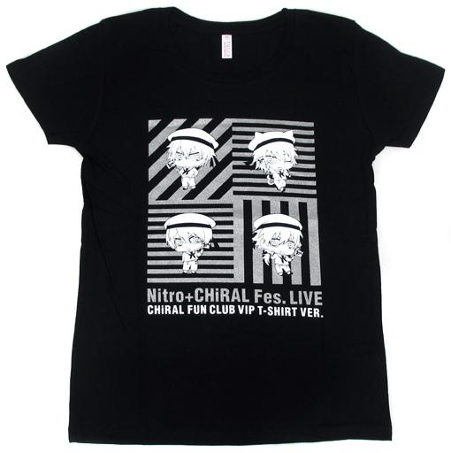 【中古】Tシャツ(キャラクター) アキラ&コノエ&蓉司&蒼葉 Tシャツ ブラック Mサイズ 「Nitro+CHiRAL Fes. LIVE」 FC限定