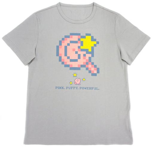【中古】Tシャツ(キャラクター) Tシャツ 男性向けMサイズ グレー 「一番くじ 星のカービィ」 C賞