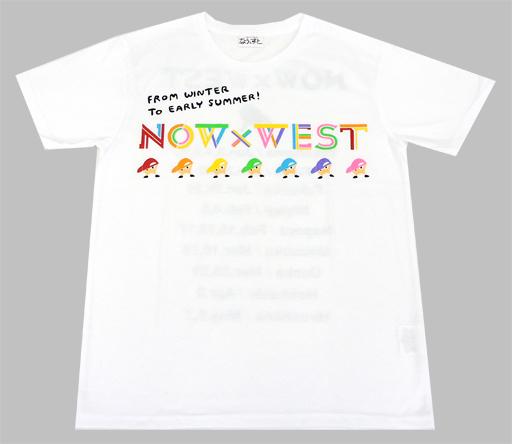 ジャニーズWEST Tシャツ ホワイト 「ジャニーズWEST CONCERT TOUR 2017 なうぇすと」