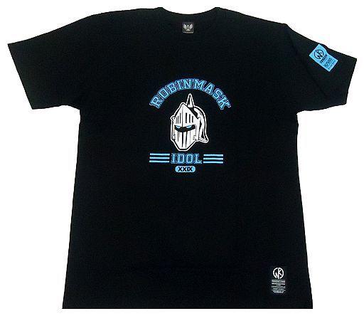 【新品】Tシャツ(キャラクター) ロビンマスク Tシャツ ブラック Lサイズ 「キン肉マン×CORAZON」
