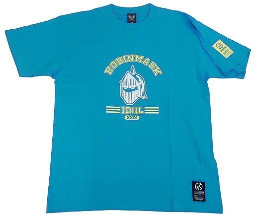 【新品】Tシャツ(キャラクター) ロビンマスク Tシャツ ターコイズ Lサイズ 「キン肉マン×CORAZON」