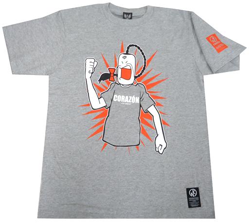 【新品】Tシャツ(キャラクター) ラーメンマン Tシャツ グレー Lサイズ 「ラーメンマン×CORAZON」