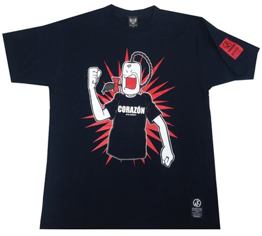 【新品】Tシャツ(キャラクター) ラーメンマン Tシャツ ネイビー Lサイズ 「ラーメンマン×CORAZON」