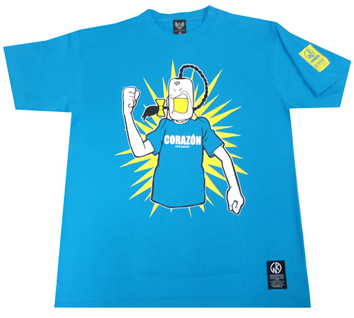 【新品】Tシャツ(キャラクター) ラーメンマン Tシャツ ターコイズブルー Mサイズ 「ラーメンマン×CORAZON」