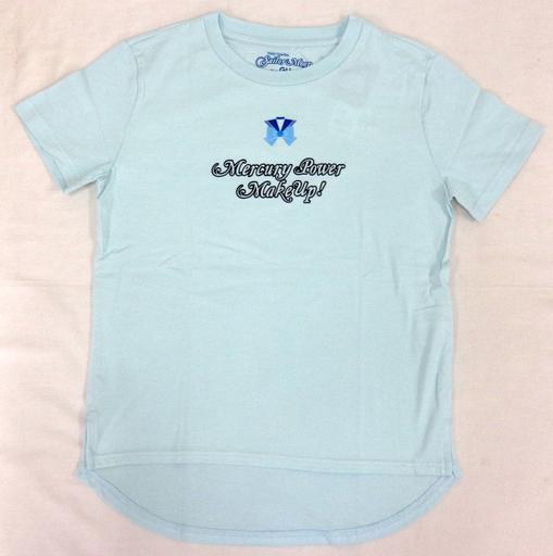 【中古】Tシャツ(キャラクター) セーラーマーキュリーロゴ グラフィックTシャツ ブルー Mサイズ 「美少女戦士セーラームーン meets GU」