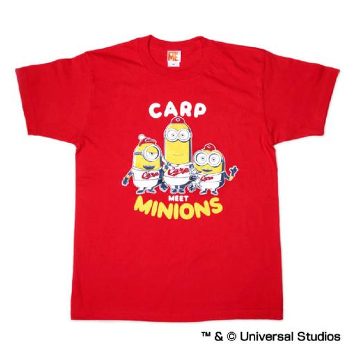 【中古】Tシャツ(キャラクター) ケビン&スチュアート&ボブ Tシャツ レッド Lサイズ 「広島東洋カープ×ミニオンズ」