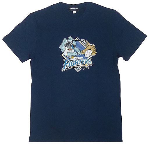 【中古】Tシャツ(キャラクター) A.ファイターズ×カイリキー Tシャツ ネイビー 130cm 「北海道日本ハムファイターズ×ポケットモンスター」 ポケモンセンター限定