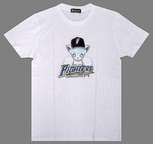 【中古】Tシャツ(キャラクター) ファイターズ×アローラロコン Tシャツ ホワイト 130cm 「北海道日本ハムファイターズ×ポケットモンスター」 ポケモンセンター限定