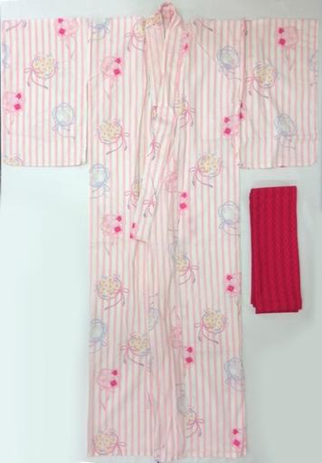 【中古】衣類その他(キャラクター) 木之本桜モデル 浴衣 ピンク フリーサイズ 「カードキャプターさくら」