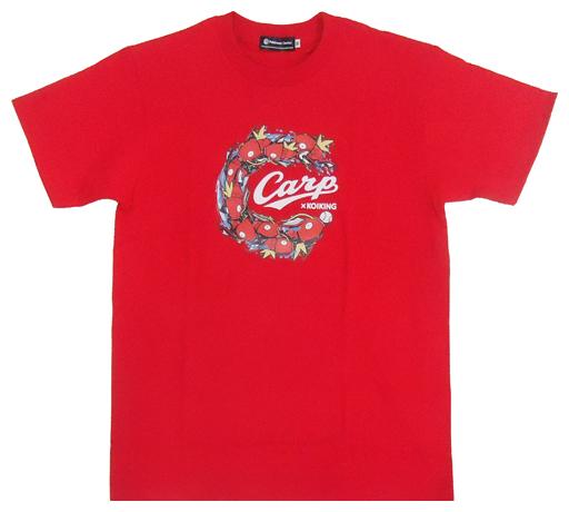 【中古】Tシャツ(キャラクター) コイキング×カープ2(およぐ) Tシャツ レッド Mサイズ 「広島東洋カープ×ポケットモンスター」 ポケモンセンター限定
