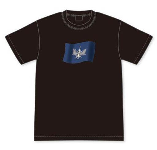 【新品】Tシャツ(キャラクター) 銀鳳騎士団団旗 Tシャツ ブラック Lサイズ 「ナイツ&マジック」
