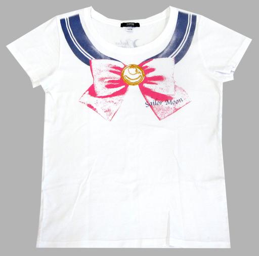 【中古】Tシャツ(キャラクター) セーラームーン なりきりセーラーTシャツ ホワイト レディースMサイズ 「美少女戦士セーラームーン」