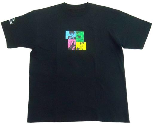 【中古】Tシャツ(キャラクター) [単品] 集合 BEBOPキャラクターTシャツ ブラック フリーサイズ 「PS2ソフト カウボーイビバップ 追憶の夜曲 限定版」 同梱特典